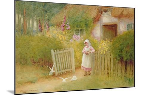 Feeding the Doves-Arthur Claude Strachan-Mounted Giclee Print