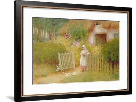 Feeding the Doves-Arthur Claude Strachan-Framed Art Print