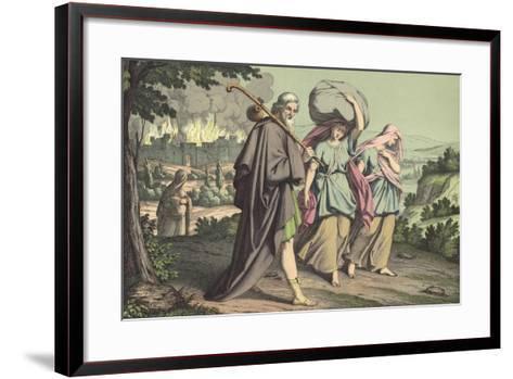 Lot Escaping from Sodom--Framed Art Print