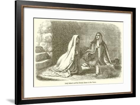 Lady Grisell and Sir Patrick Hume in the Vault--Framed Art Print