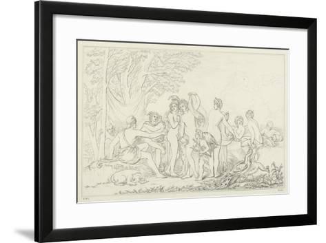 The Judgement of Paris-William Etty-Framed Art Print