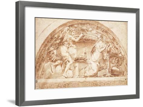 The Annunciation: a Design for a Lunette-Girolamo Mazzola Bedoli-Framed Art Print