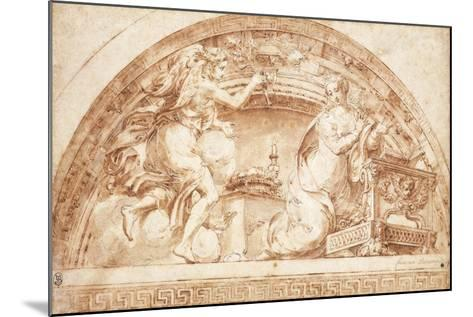 The Annunciation: a Design for a Lunette-Girolamo Mazzola Bedoli-Mounted Giclee Print