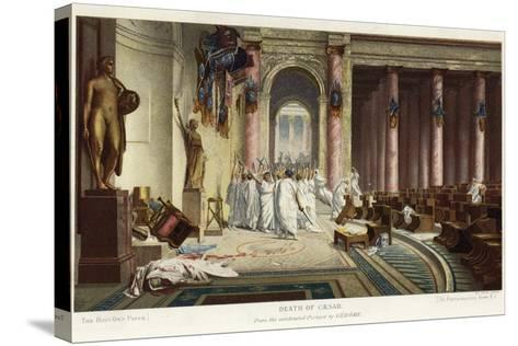 The Death of Caesar-Jean Leon Gerome-Stretched Canvas Print