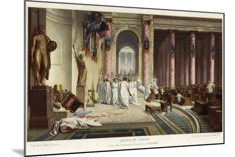 The Death of Caesar-Jean Leon Gerome-Mounted Giclee Print