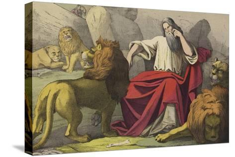 Daniel in the Lions Den--Stretched Canvas Print