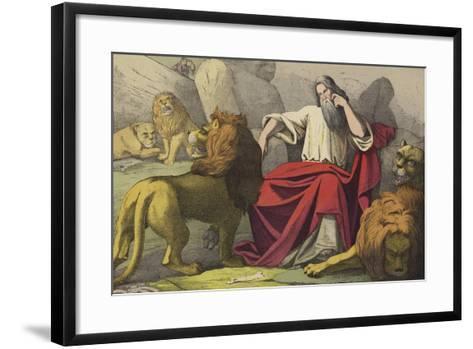 Daniel in the Lions Den--Framed Art Print