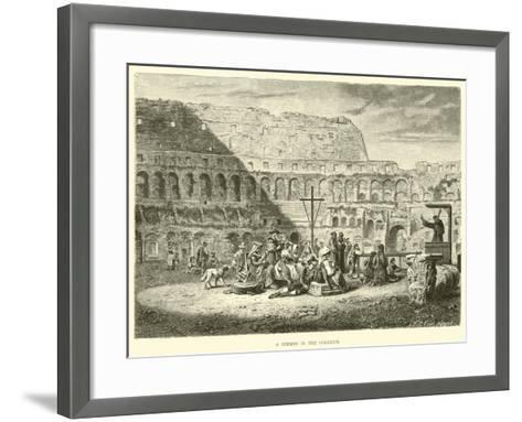 A Sermon in the Coliseum--Framed Art Print
