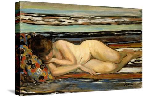 Nude Woman Sleeping; Nu Allonge-Henri Lebasque-Stretched Canvas Print