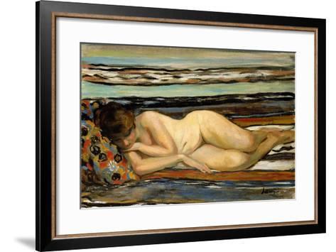 Nude Woman Sleeping; Nu Allonge-Henri Lebasque-Framed Art Print
