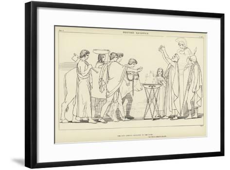 Nestor's Sacrifice-John Flaxman-Framed Art Print