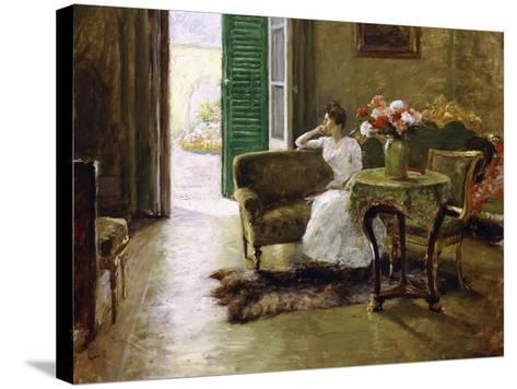 A Memory - in the Italian Villa-William Merritt Chase-Stretched Canvas Print