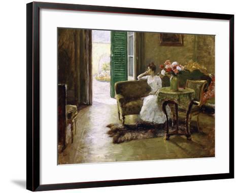 A Memory - in the Italian Villa-William Merritt Chase-Framed Art Print