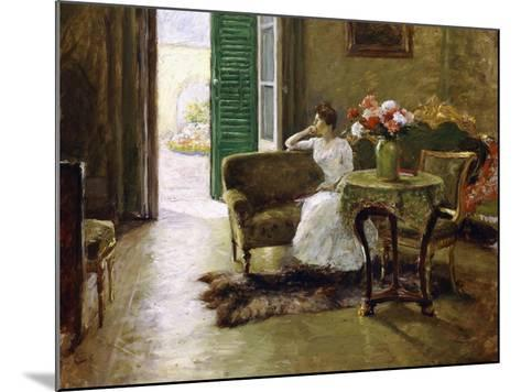 A Memory - in the Italian Villa-William Merritt Chase-Mounted Giclee Print