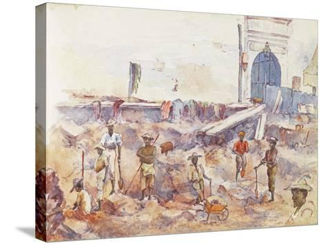 Scene from the Boer War, from a Sketchbook, 1896--Stretched Canvas Print