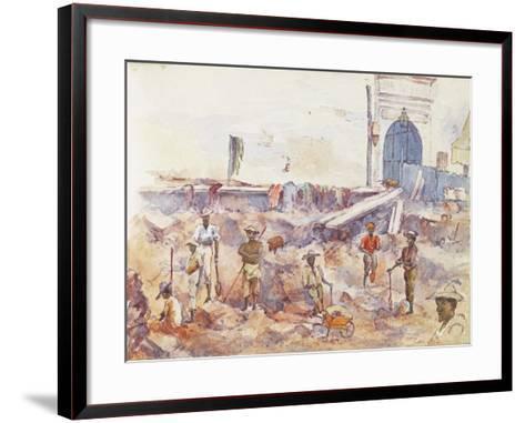 Scene from the Boer War, from a Sketchbook, 1896--Framed Art Print