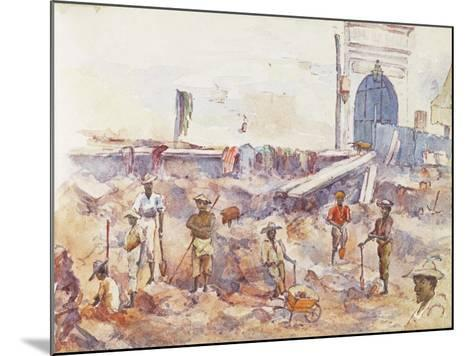 Scene from the Boer War, from a Sketchbook, 1896--Mounted Giclee Print