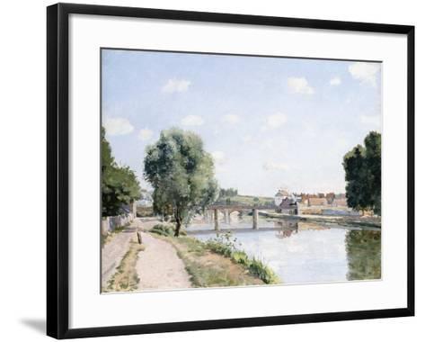 The Railway Bridge, Pontoise, C.1873-Camille Pissarro-Framed Art Print