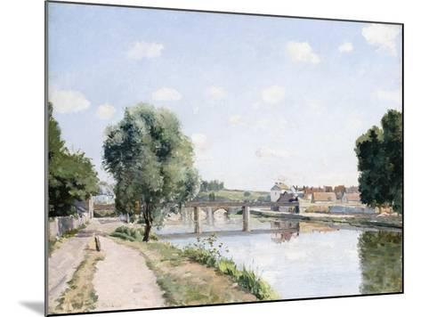 The Railway Bridge, Pontoise, C.1873-Camille Pissarro-Mounted Giclee Print