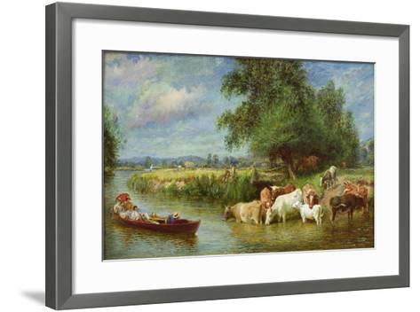A Midsummer's Day on the Thames-Basil Bradley-Framed Art Print