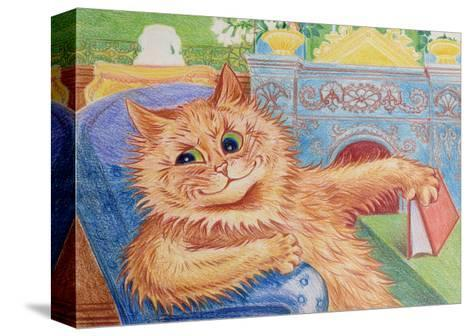 A Good Read-Louis Wain-Stretched Canvas Print