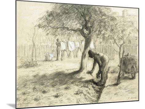 Gardening-Jean-Fran?ois Millet-Mounted Giclee Print