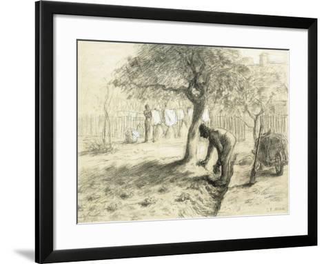 Gardening-Jean-Fran?ois Millet-Framed Art Print