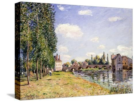 The Moret Bridge in the Summer, 1888-Alfred Sisley-Stretched Canvas Print