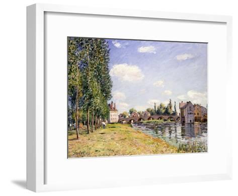The Moret Bridge in the Summer, 1888-Alfred Sisley-Framed Art Print