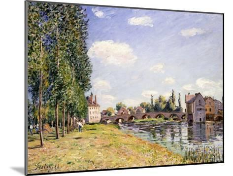 The Moret Bridge in the Summer, 1888-Alfred Sisley-Mounted Giclee Print