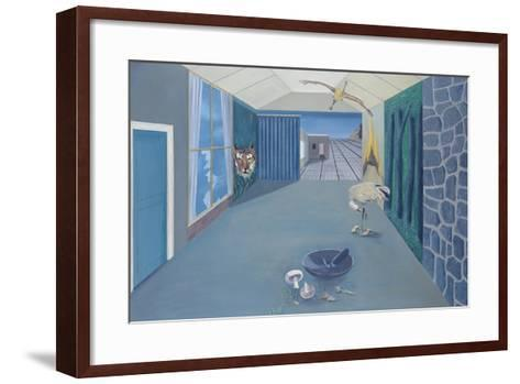 By the Aqueduct-John Martin-Framed Art Print