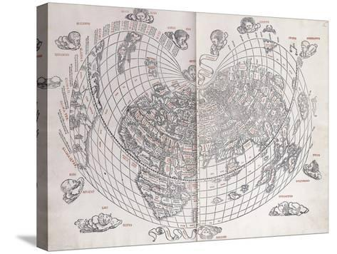 A Map of the World, 1511--Stretched Canvas Print