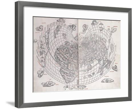 A Map of the World, 1511--Framed Art Print