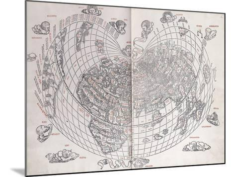 A Map of the World, 1511--Mounted Giclee Print