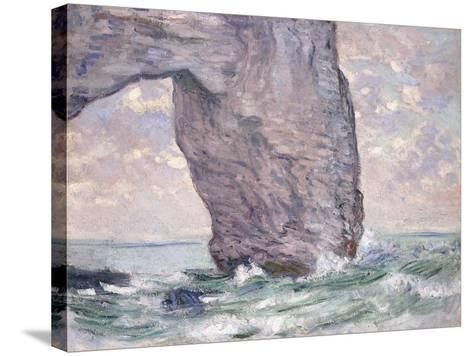 The Manneporte Seen from Below, 1883-Claude Monet-Stretched Canvas Print