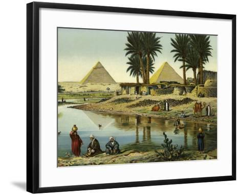 The Pyramids of Gizeh--Framed Art Print