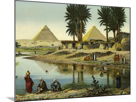 The Pyramids of Gizeh--Mounted Giclee Print