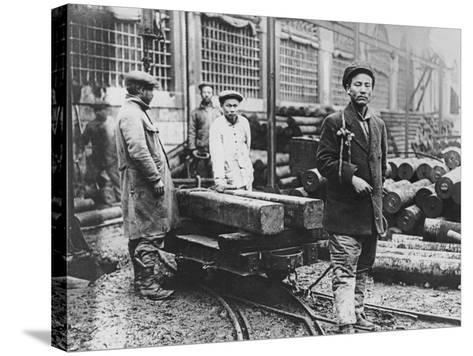 Chinese Construction Workshop, Lyon, 1916--Stretched Canvas Print