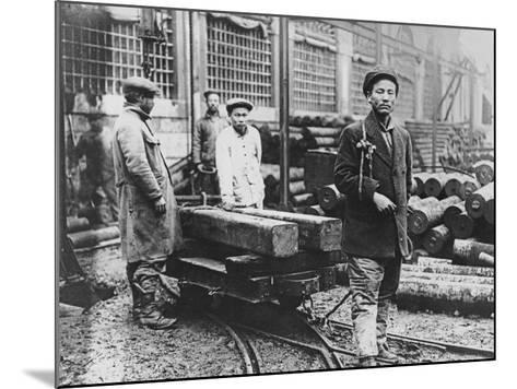 Chinese Construction Workshop, Lyon, 1916--Mounted Photographic Print