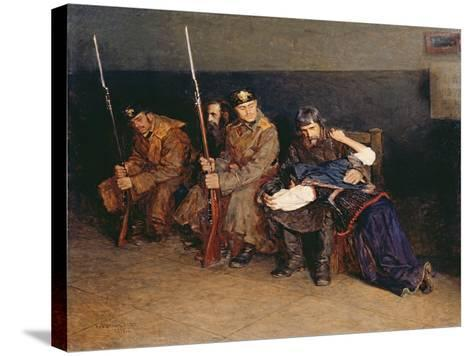 In the Corridor of the District Court, 1897-Nikolaj Alekseevich Kasatkin-Stretched Canvas Print
