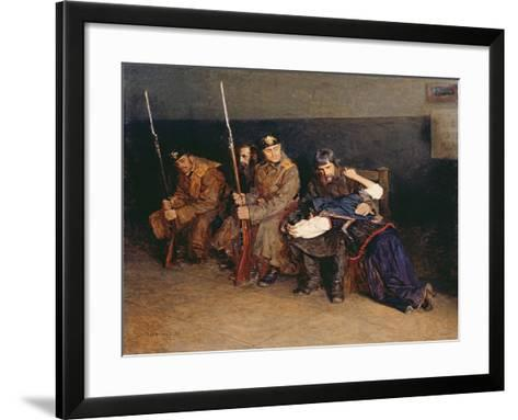 In the Corridor of the District Court, 1897-Nikolaj Alekseevich Kasatkin-Framed Art Print