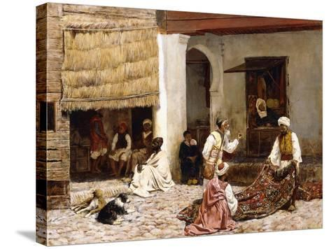 A Rug Bazaar, Tangier, 1878-Edwin Lord Weeks-Stretched Canvas Print