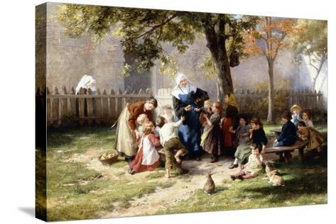 The Schoolyard-Felix Schlesinger-Stretched Canvas Print