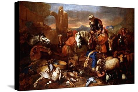 Jacob's Journey into Egypt-Giovanni Benedetto Castiglione-Stretched Canvas Print