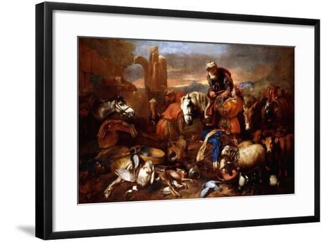 Jacob's Journey into Egypt-Giovanni Benedetto Castiglione-Framed Art Print