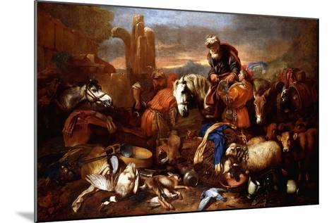 Jacob's Journey into Egypt-Giovanni Benedetto Castiglione-Mounted Giclee Print