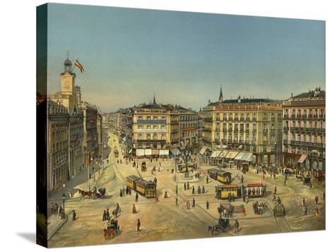 Madrid, Puerta Del Sol--Stretched Canvas Print
