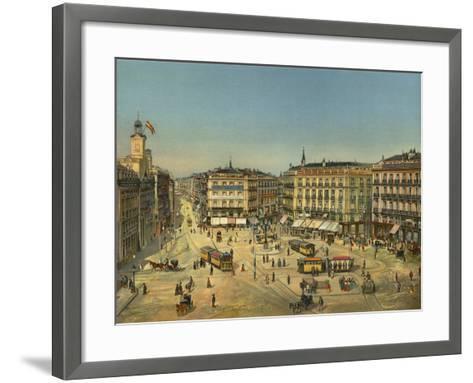 Madrid, Puerta Del Sol--Framed Art Print