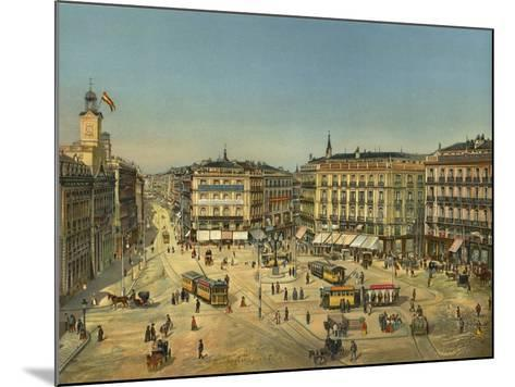 Madrid, Puerta Del Sol--Mounted Giclee Print
