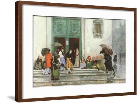Coming Out of Church, before 1875-Raimundo de Madrazo Y Garetta-Framed Art Print